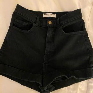 American apparel high waited shorts